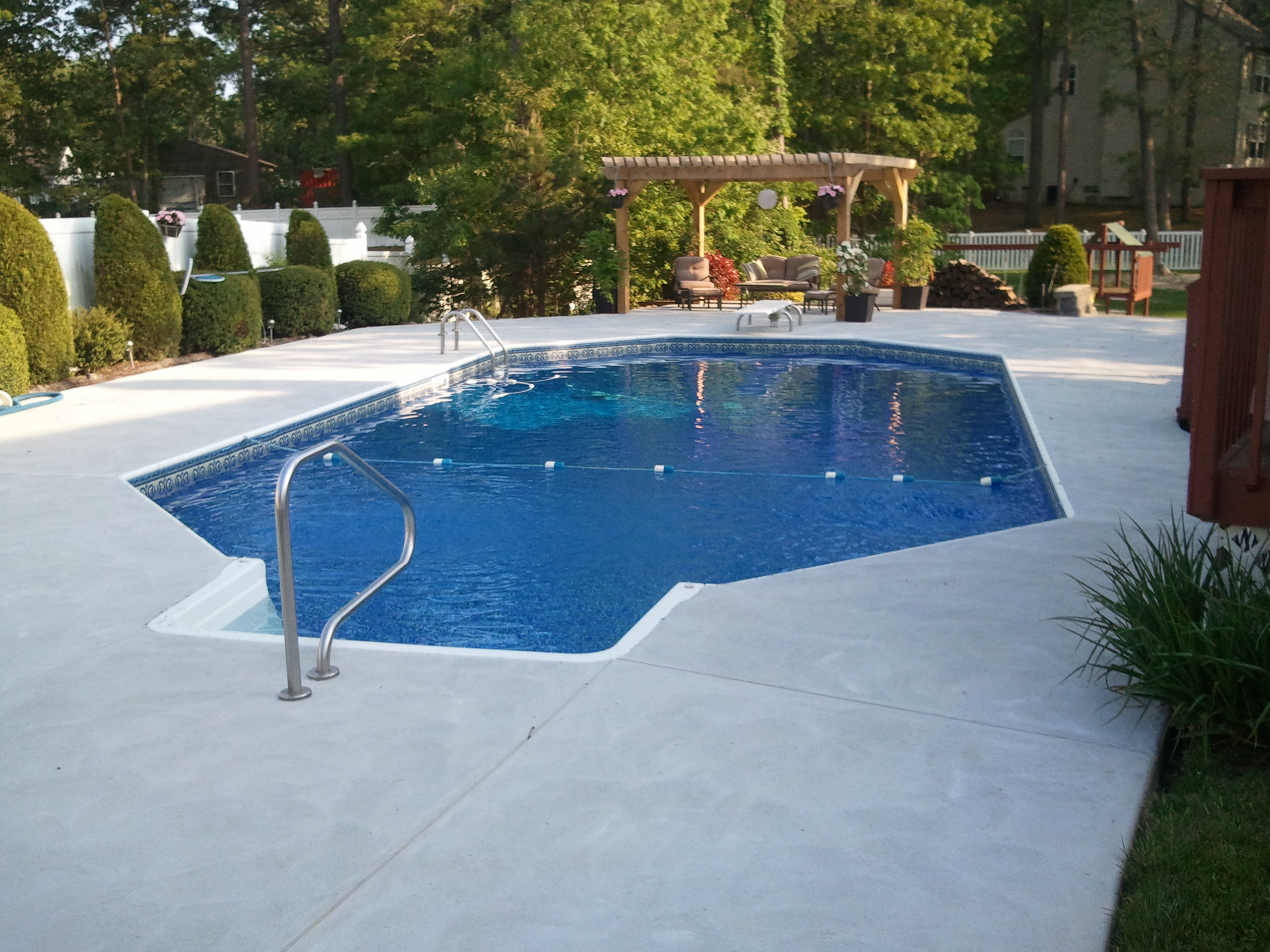Swimming pools photos custom pool builder new jersey for Grecian swimming pool