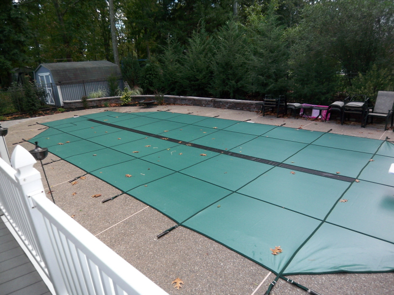 Safety Pool Covers Photos Custom Pool Builder New Jersey